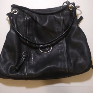 Handbags - Giani Bernini large black leather tote bag